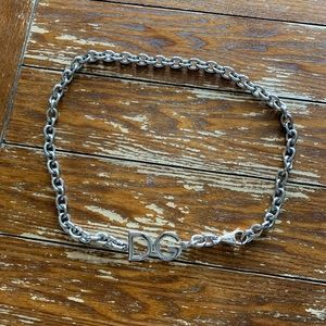 Authentic Dolce & Gabbana Silver Chain Belt